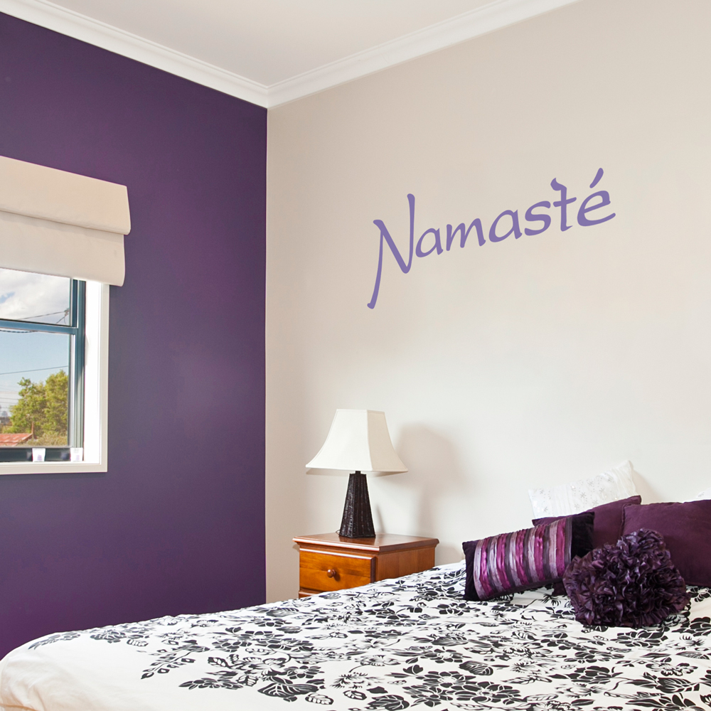 Namaste wall quote decal amipublicfo Image collections