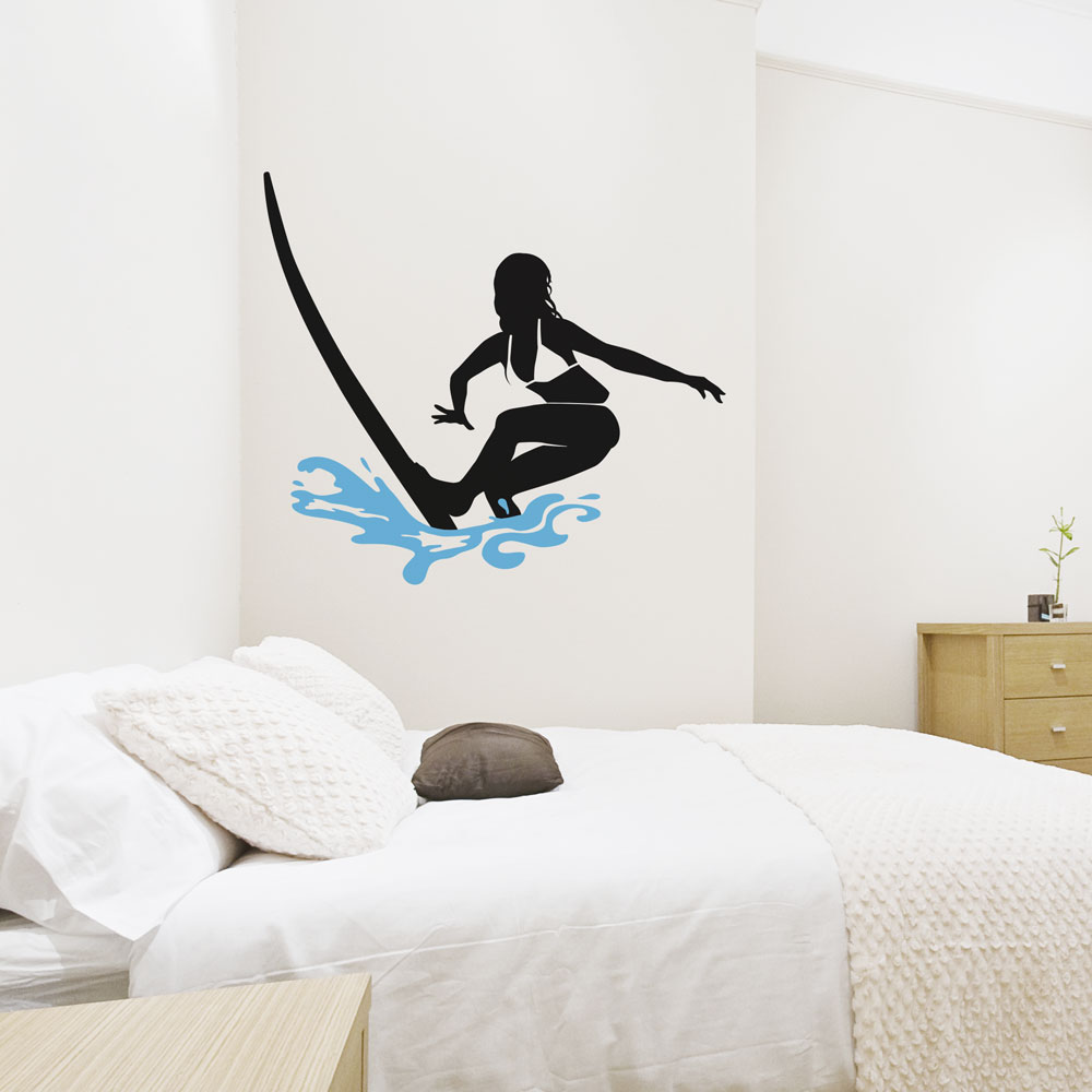 Surfer Girl Wall Decal Part 42