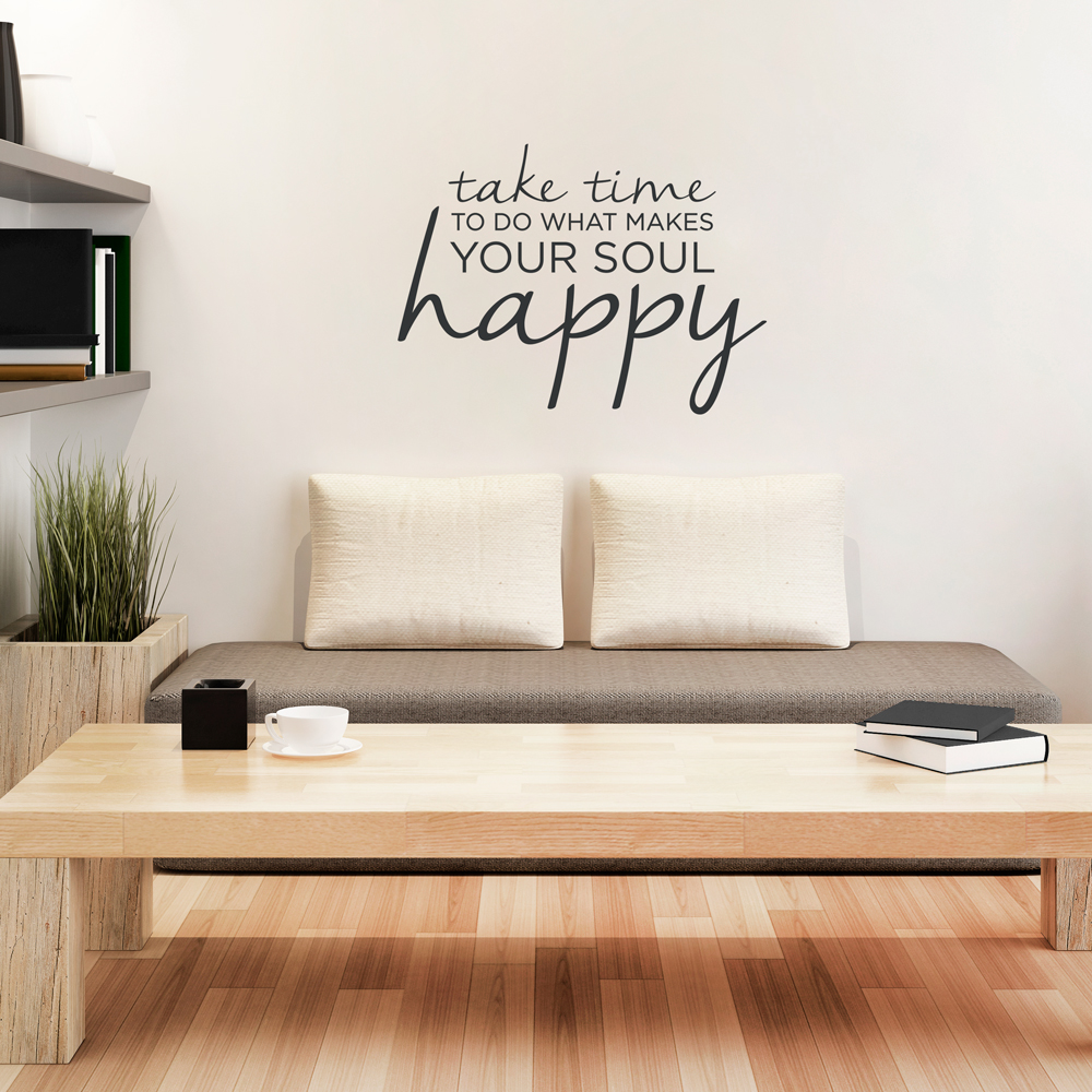 Gentil Take Time Wall Quote Decal ...