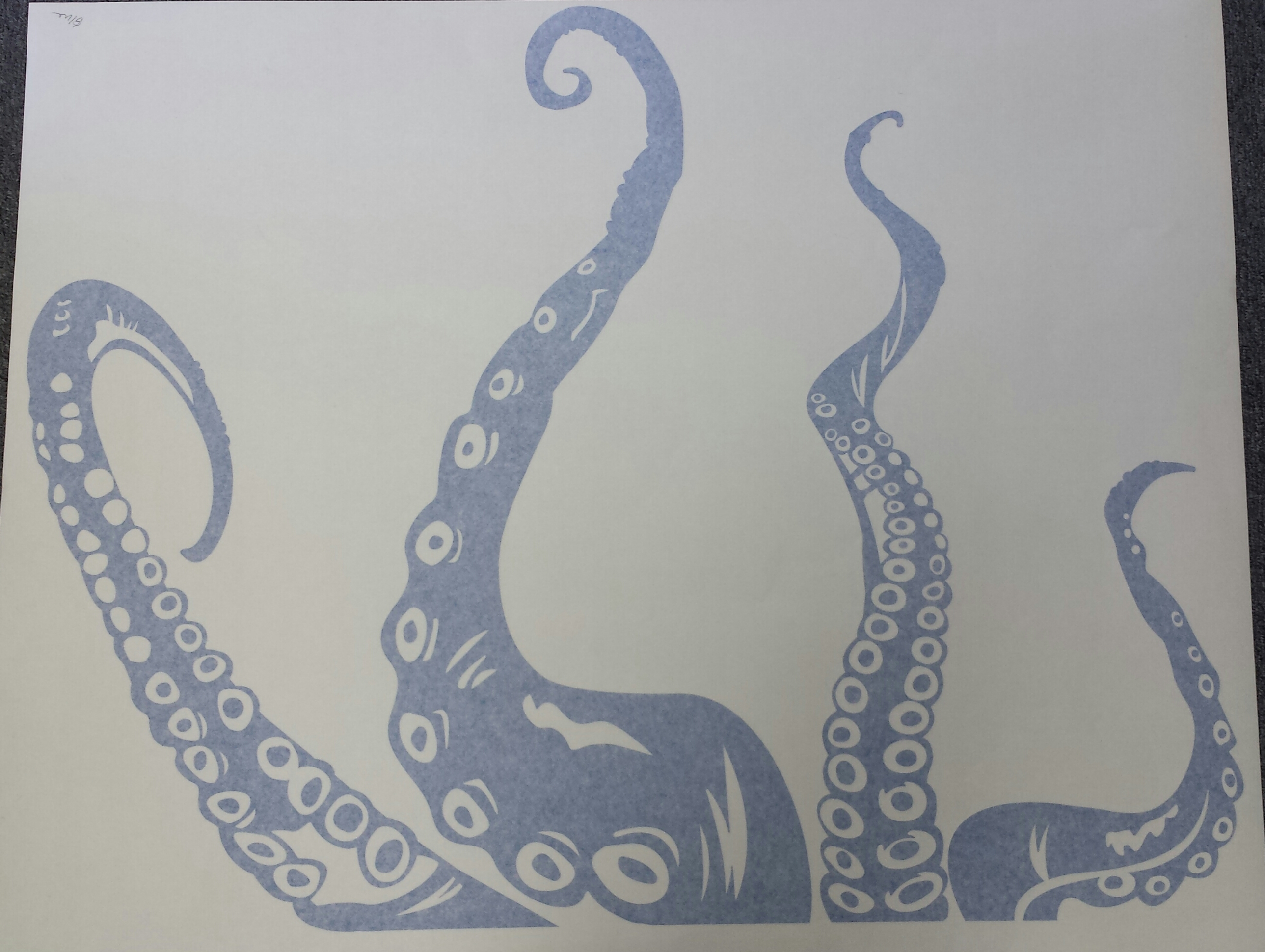 """Clearance Wall Art clearance] blue 36"""" octopus tentacles wall art decal"""