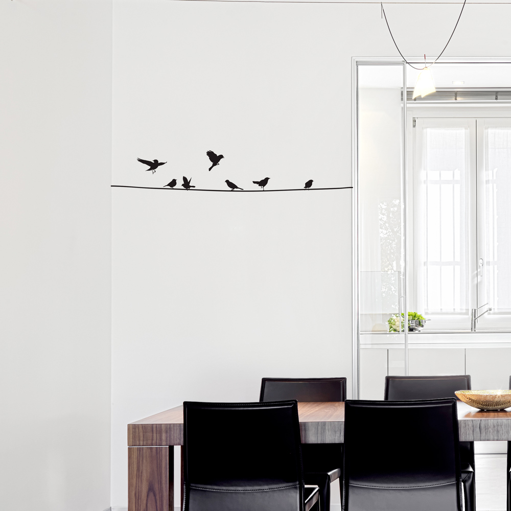 Birds On A Wire Wall Decal - Wall decals birds