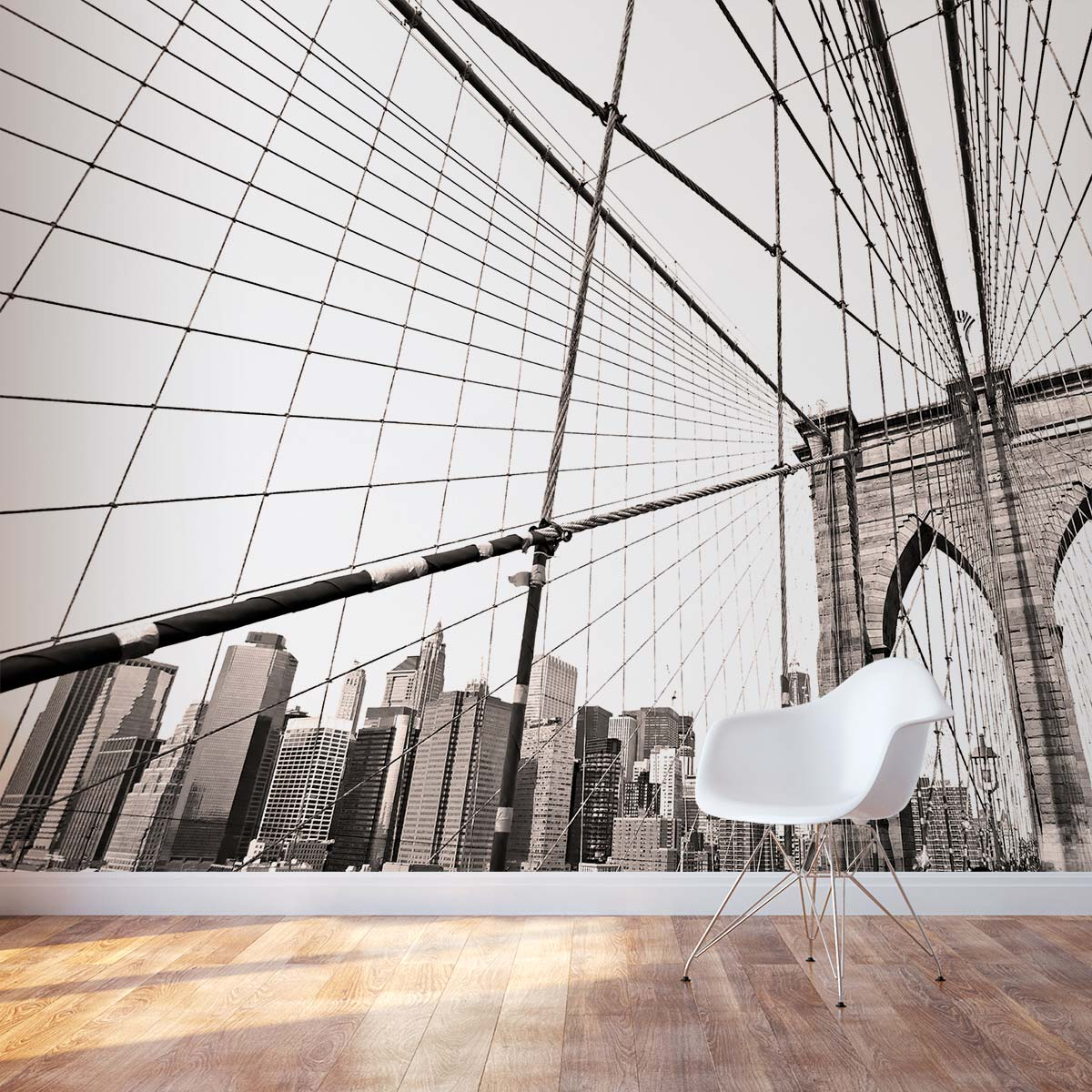 Brooklyn bridge wall mural for Brooklyn bridge wallpaper mural