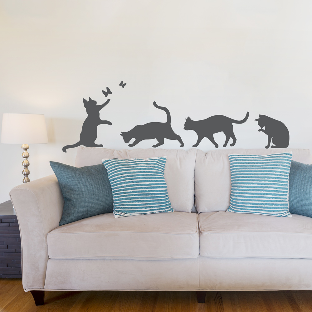Genial Cats Wall Art Decal ...