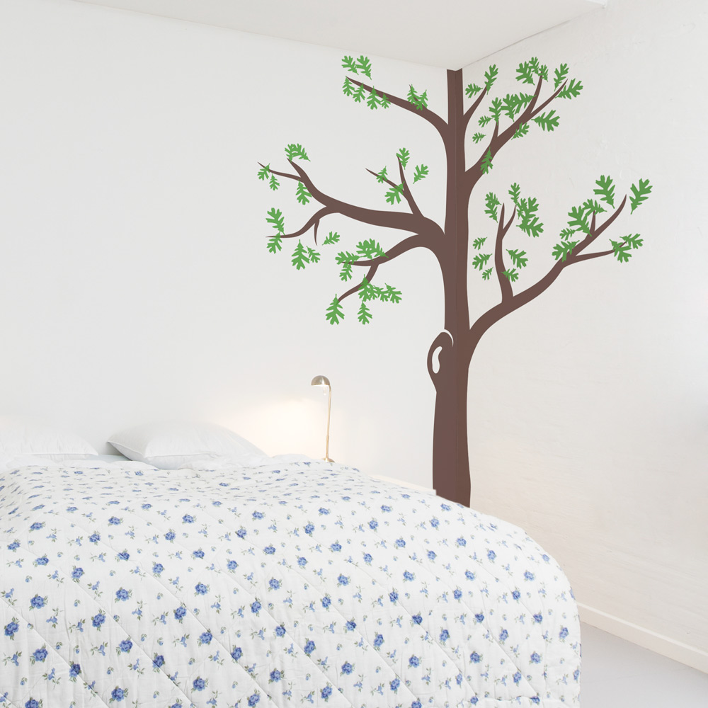 Corner Tree Wall Decal - How to put up a tree wall decal