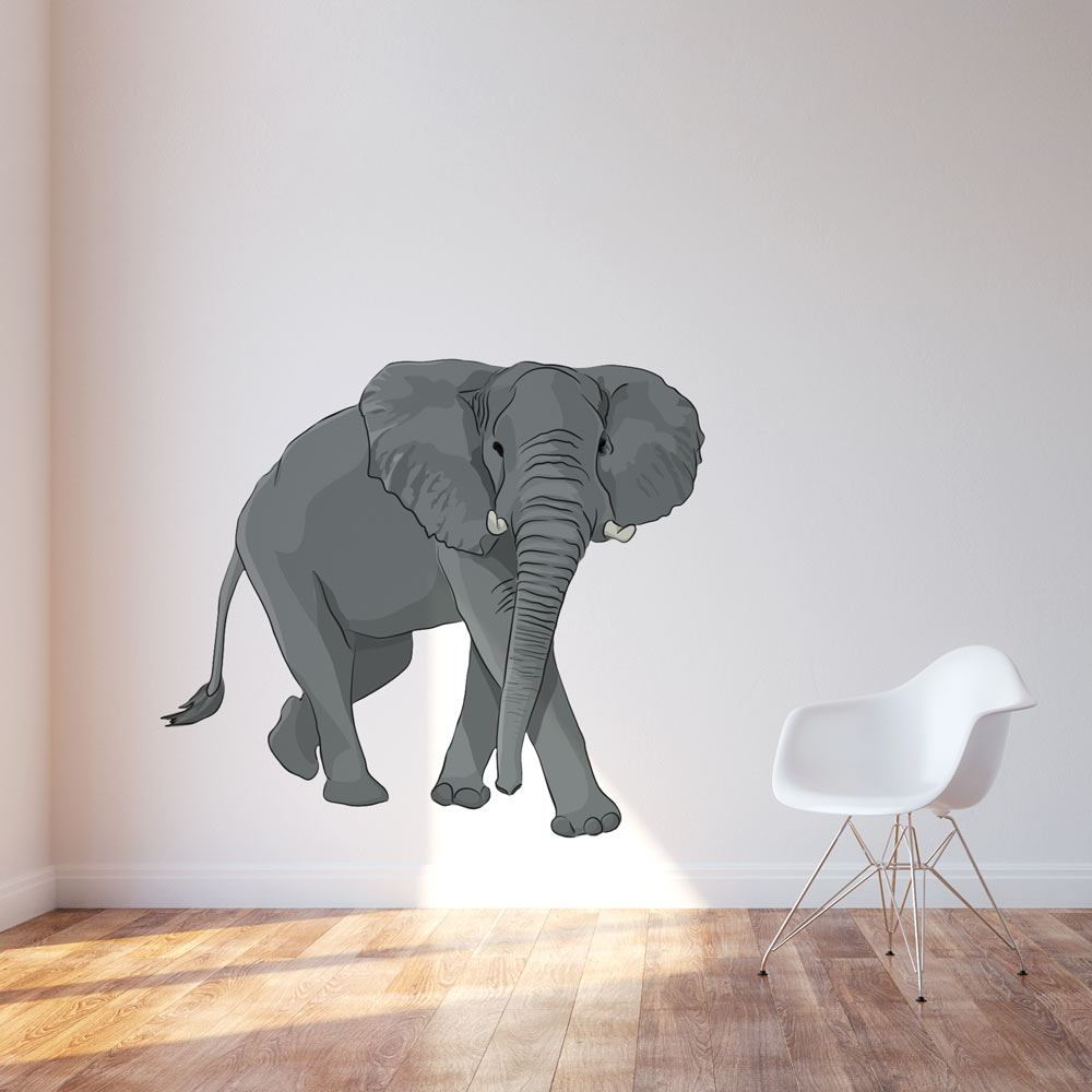 Elephant wall decals roselawnlutheran for Elephant wall mural