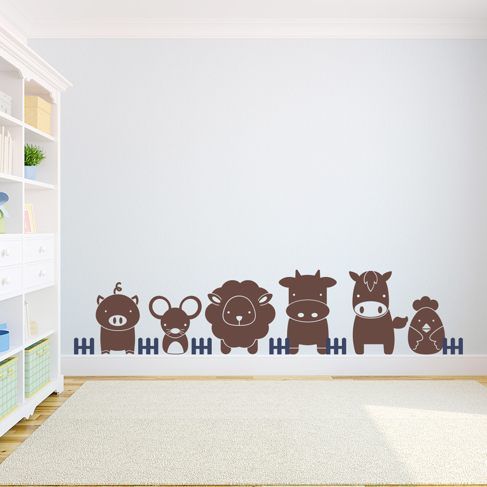 farm babies wall decal kids farm planet wall decal tenstickers