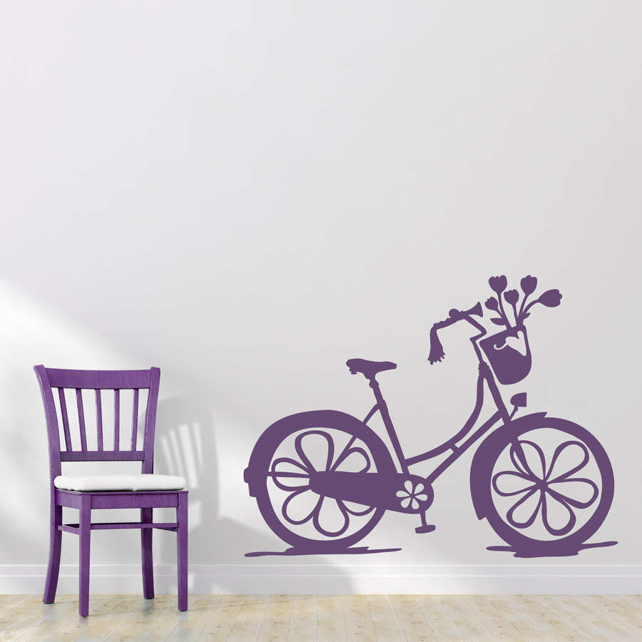Girls bike wall decal amipublicfo Image collections