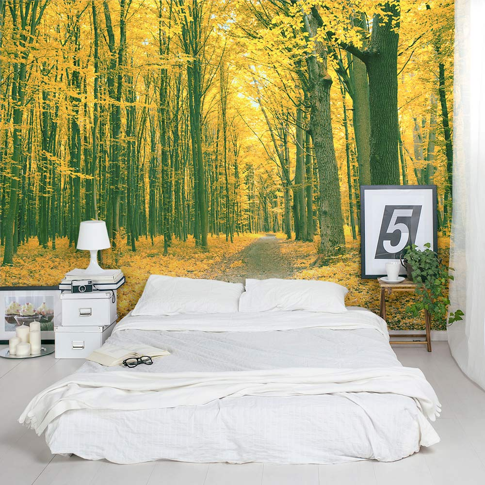 Golden Fall Forest Wall Mural