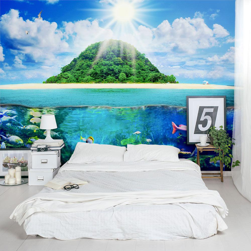 Island Sea Life Bedroom Wall Mural ...