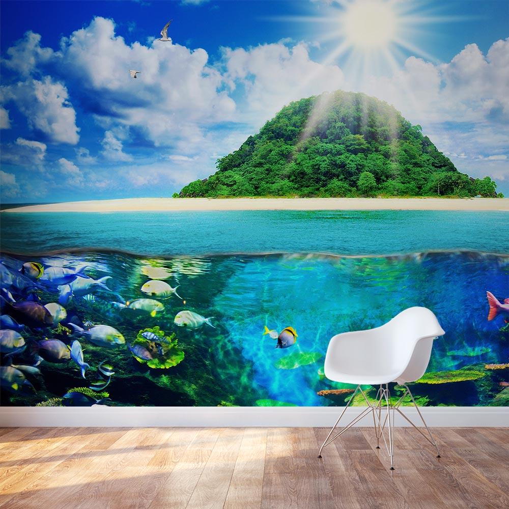 Island Sea Life Wall Mural