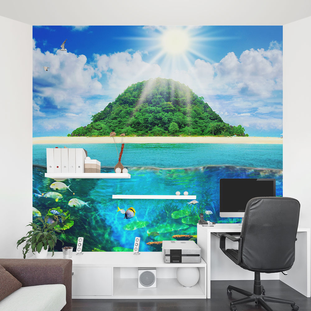 island sea life wall mural island sea life office wall mural