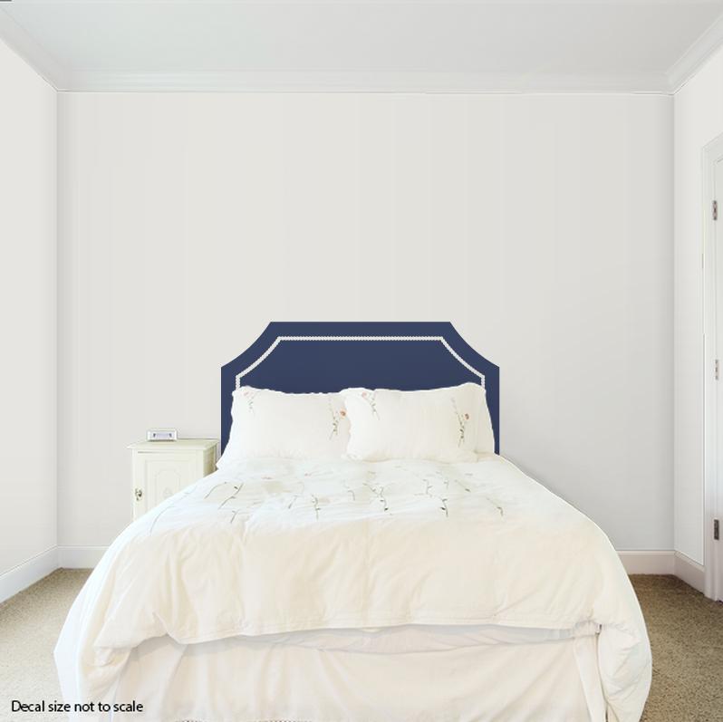 CLEARANCE Full Size Dark Blue Mallory Headboard Wall Decal - Wall decals headboard