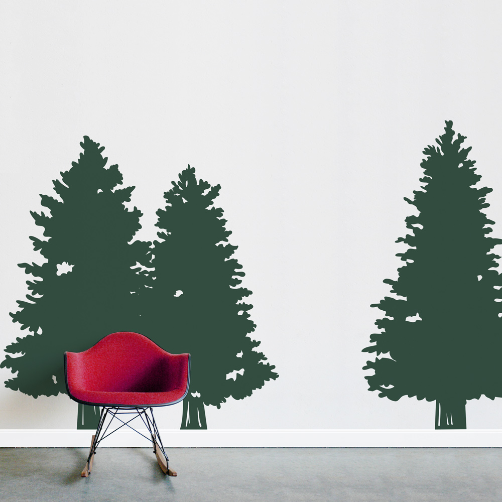 Pine Trees Wall Decal Part 90