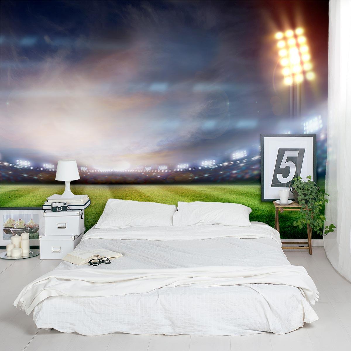 Stadium lights wall mural best free home design idea for Mural lighting