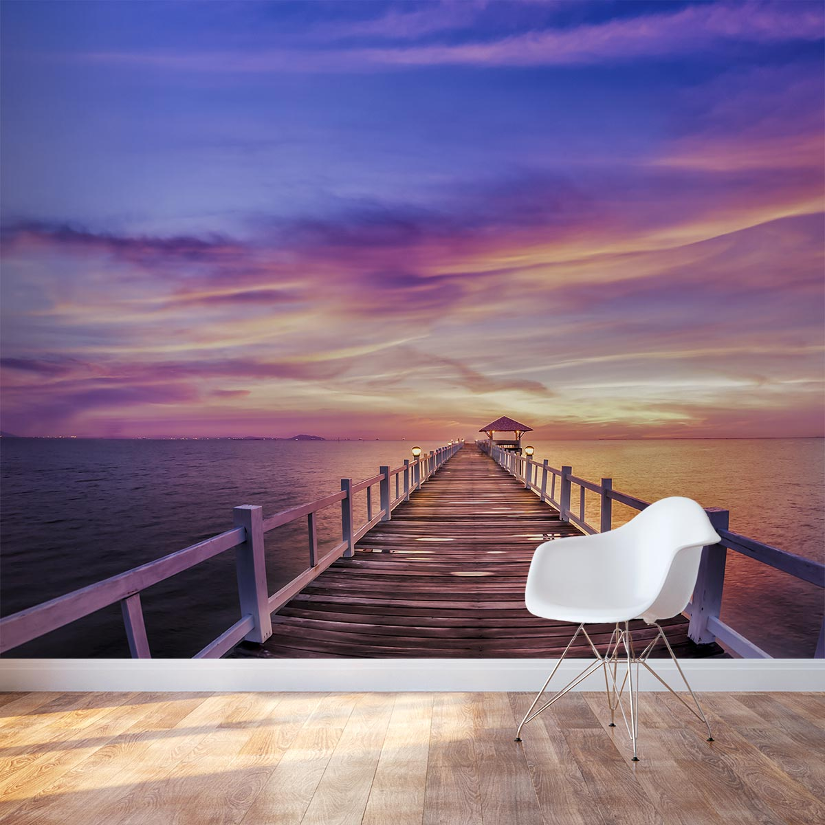 thailand pier sunset wall mural tropical sunset wall mural removable wallpaper