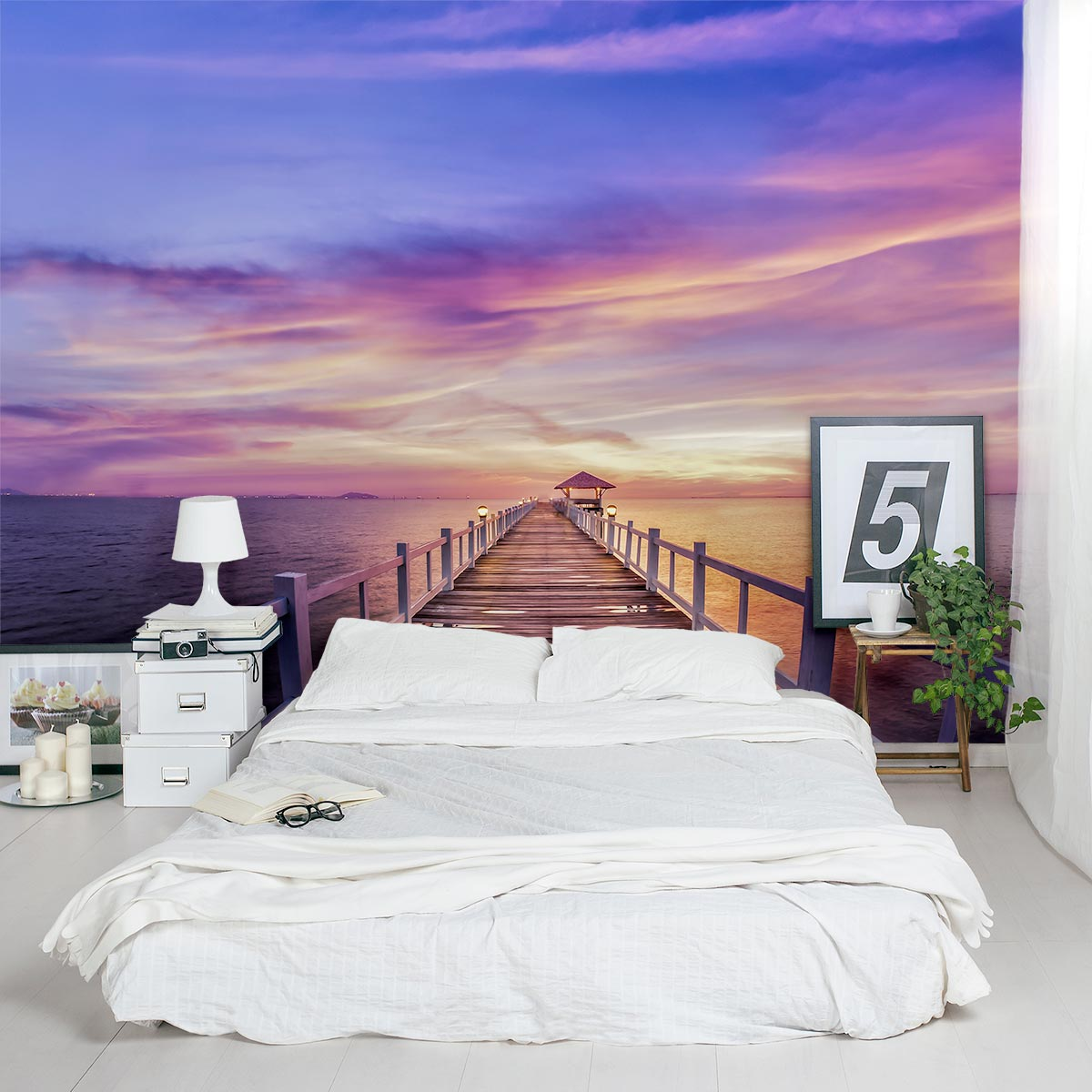 Wall Mural Sunset Painting