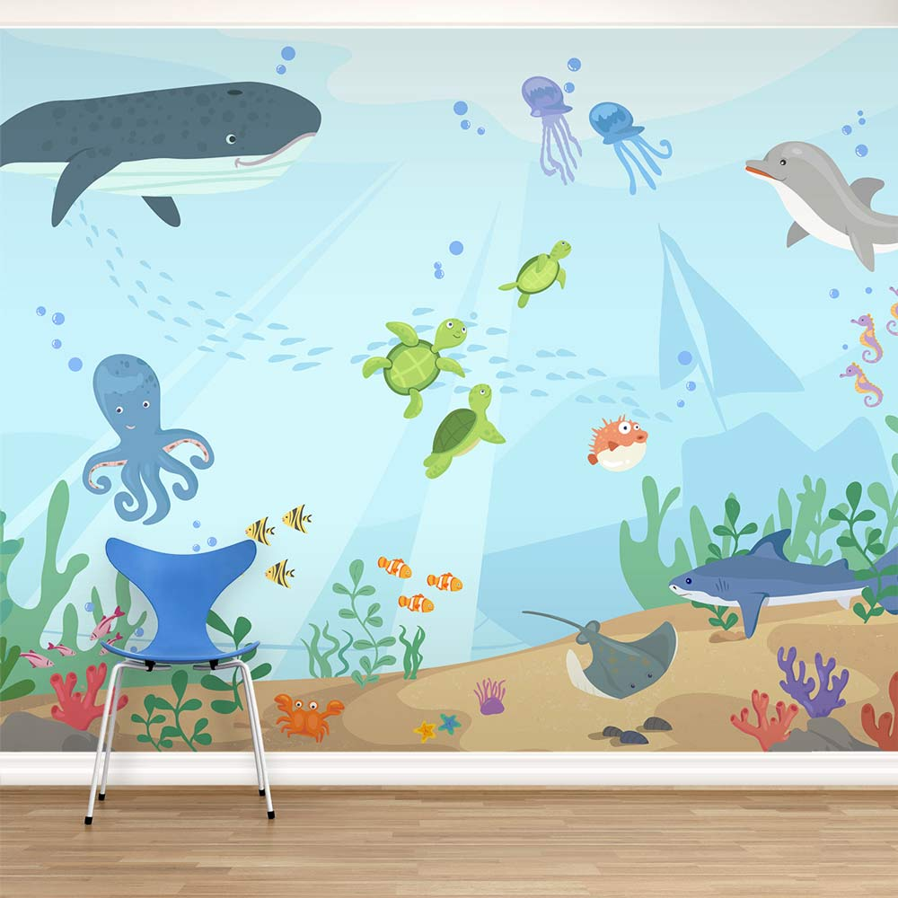 Under The Sea Wall Mural Underwater Mural For Kids