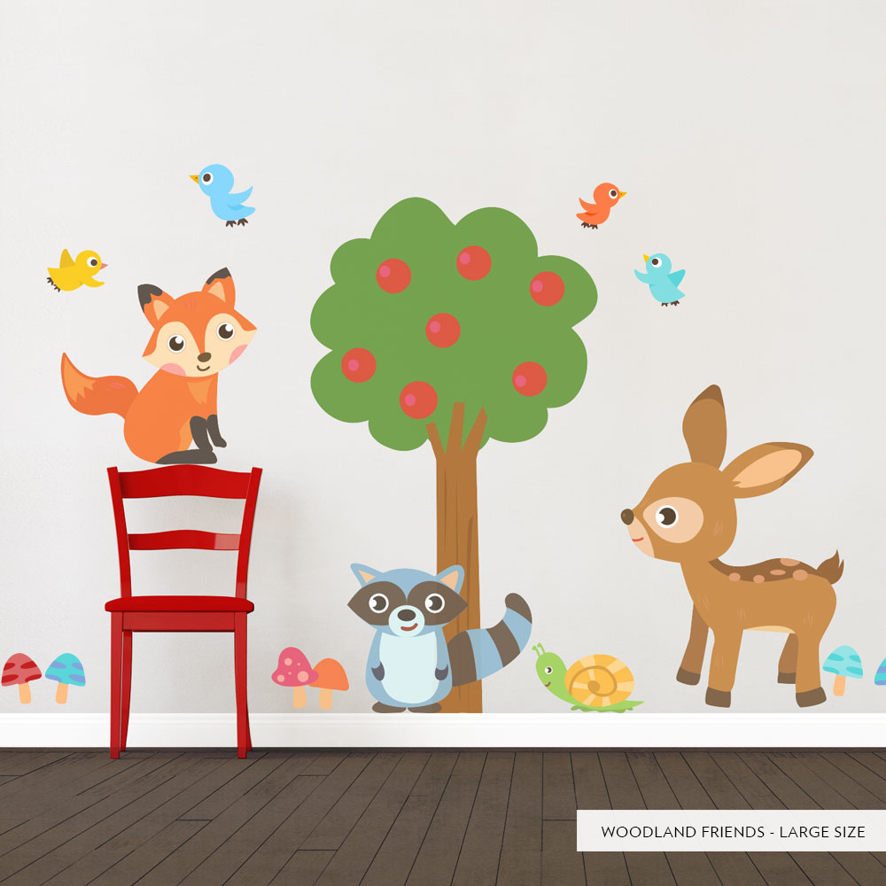 Woodland Friends Printed Wall Decal