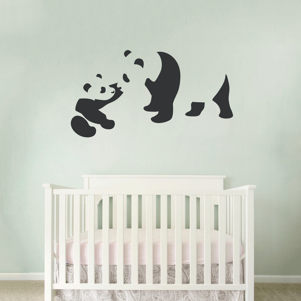 Baby and momma panda wall art decal baby and momma panda wall decal amipublicfo Image collections
