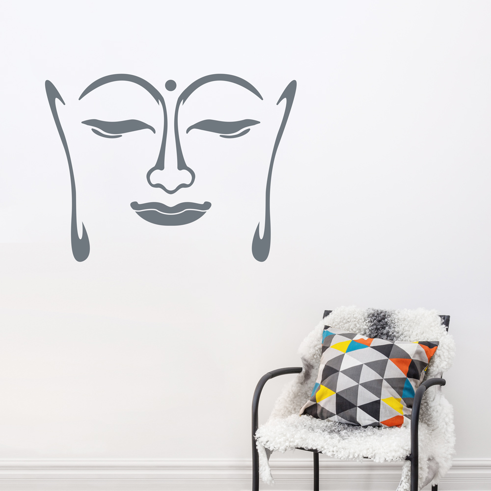 Exceptionnel Buddha Face Wall Decal