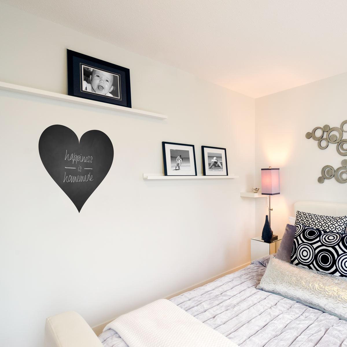large heart chalkboard wall decal -