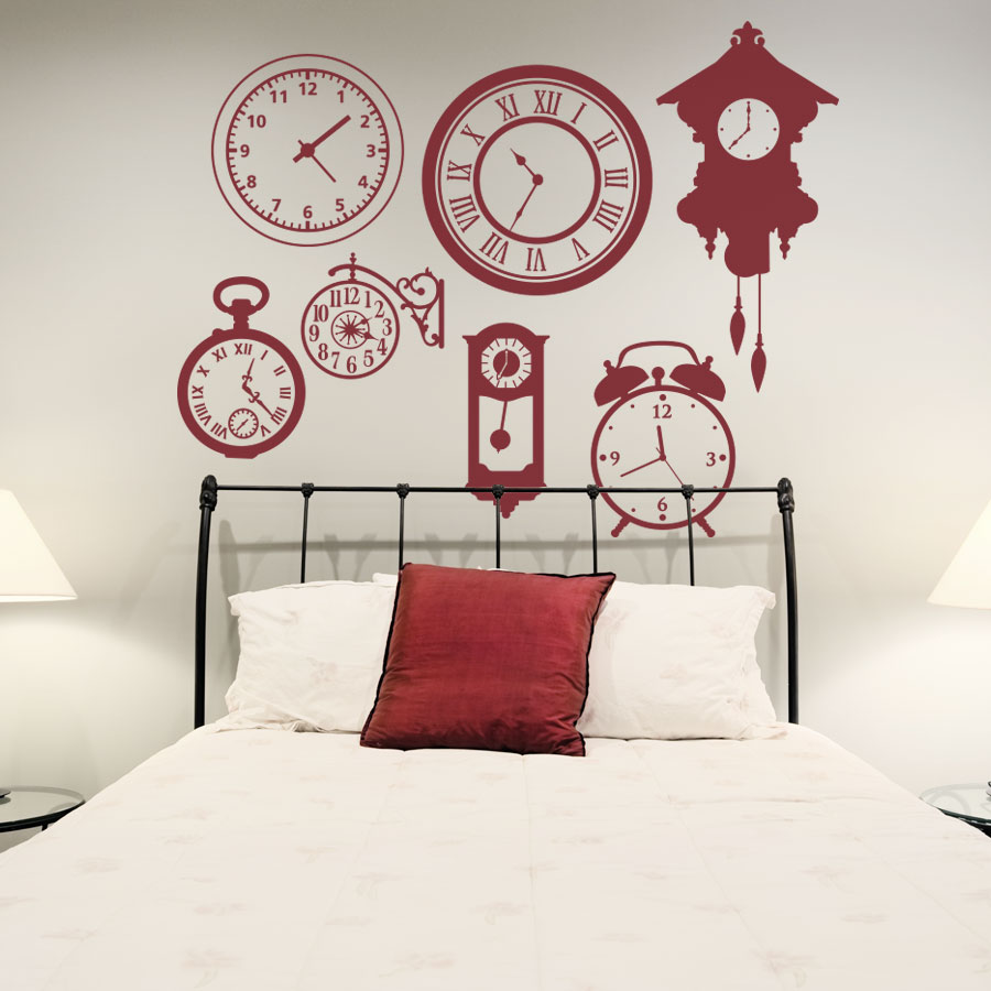 Genial Clock Faces Wall Decal