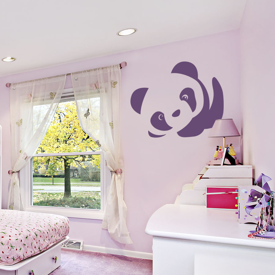 Cute Baby Panda Wall Art Decal