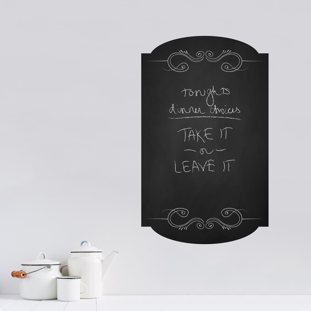 Picture Frame Wall Decals chalkboard menu frame wall decal