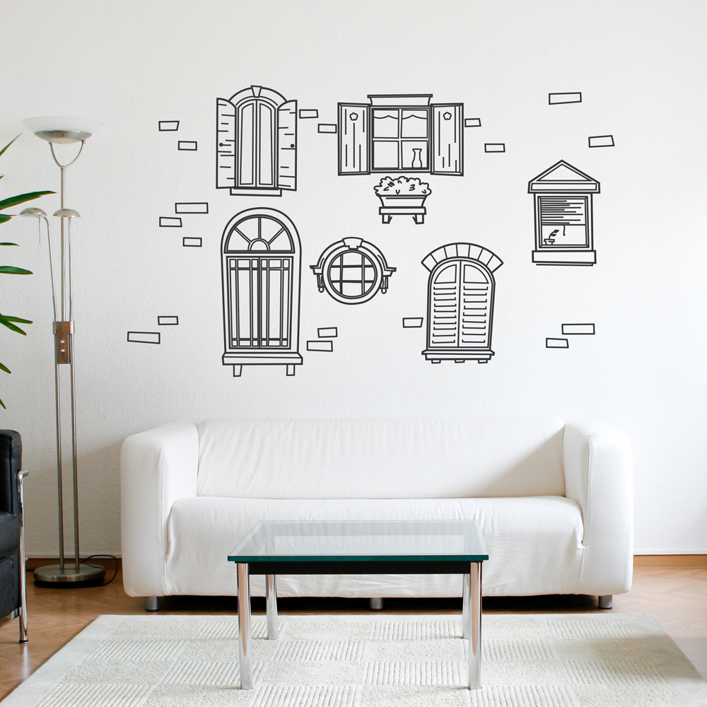 Vintage Windows Wall Decal - Vintage wall decals
