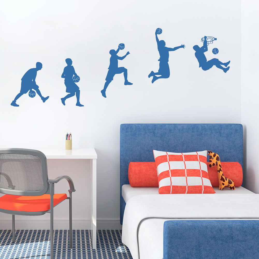 Basketball sequence wall decal amipublicfo Image collections