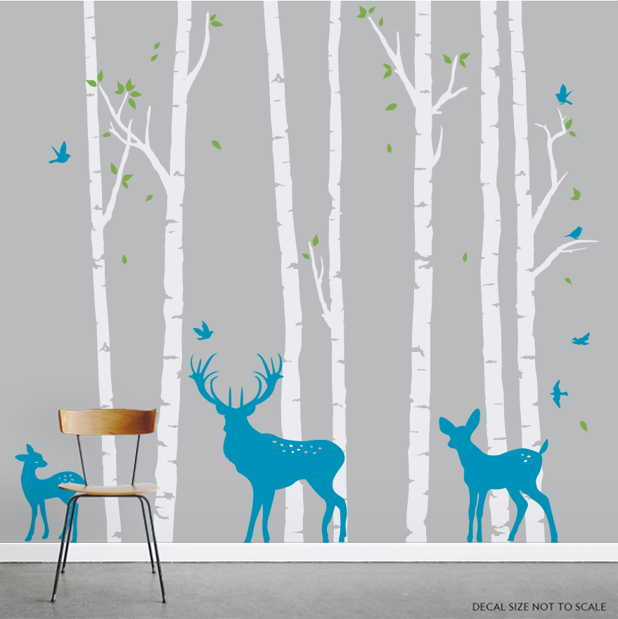 Birch Tree Wall Decals The Image Kid