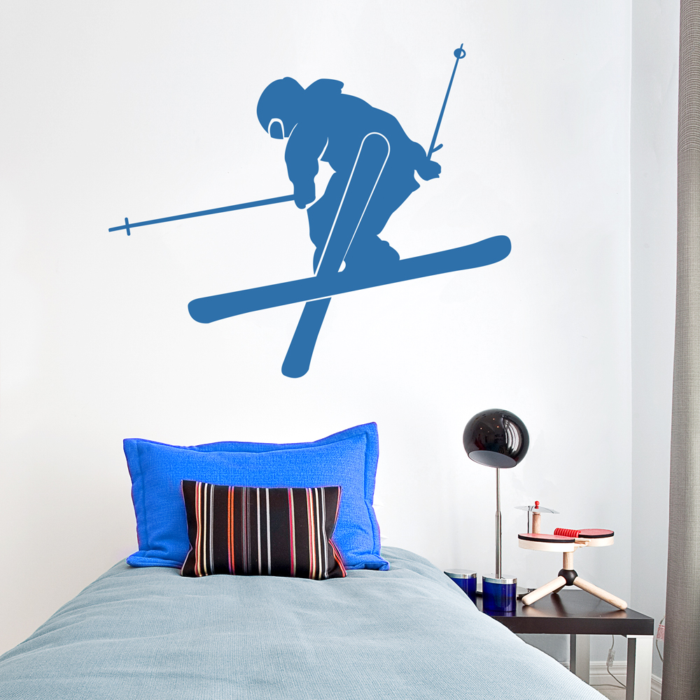 freestyle skier wall decal