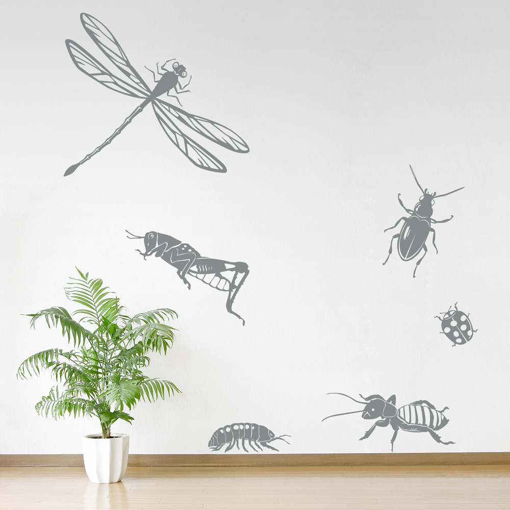 insects set two wall decal insect kids decal we are love and life