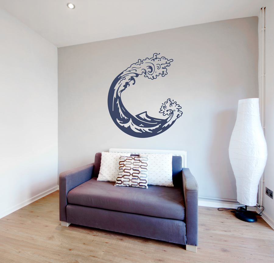 Japanese Wave Wall Decal - Japanese wall decals