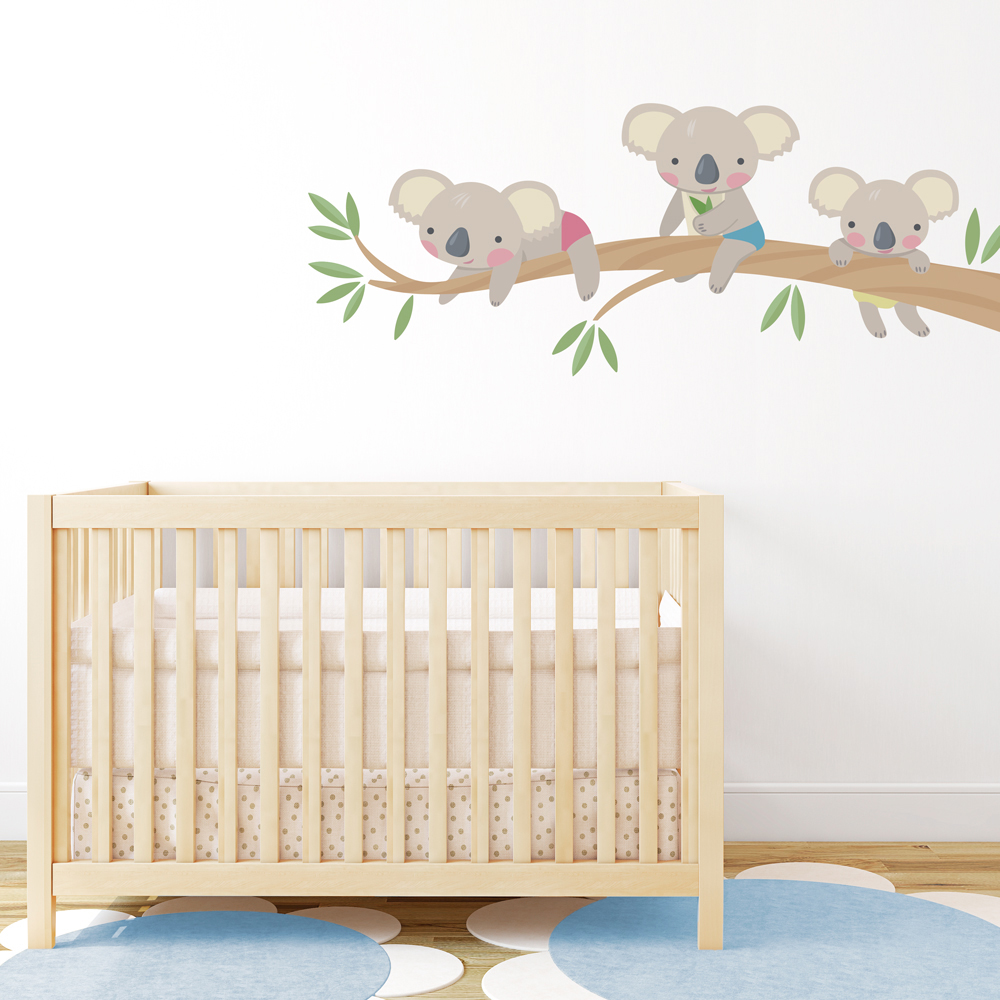 Koala Family Printed Wall Decal - Wall decals about family