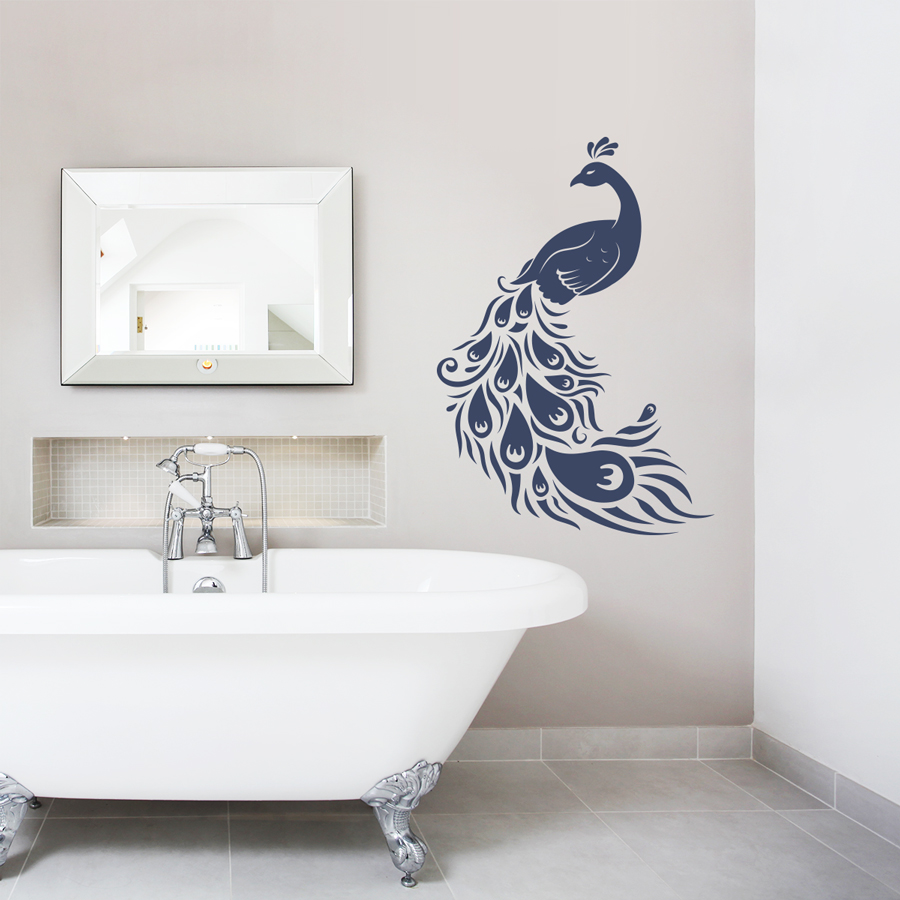 Peacock wall decal amipublicfo Images