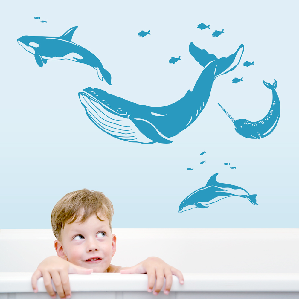 Whale wall decals image collections home wall decoration ideas whales and dolphins wall decal amipublicfo image collections amipublicfo Gallery