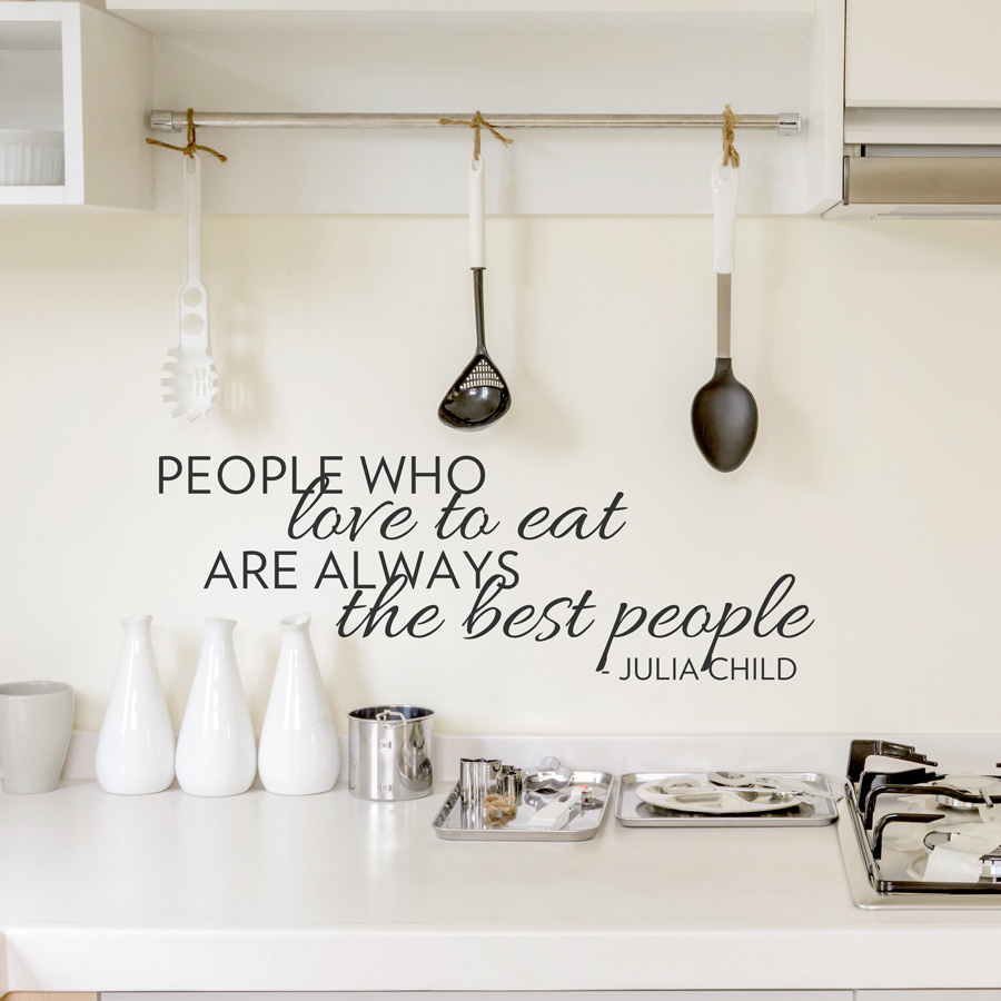 the best people wall quote decal