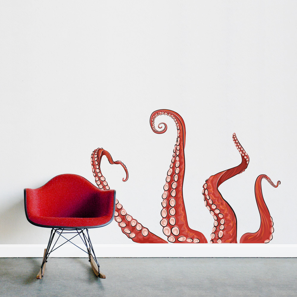 Tentacles Printed Wall Decal - Wallums wall decals