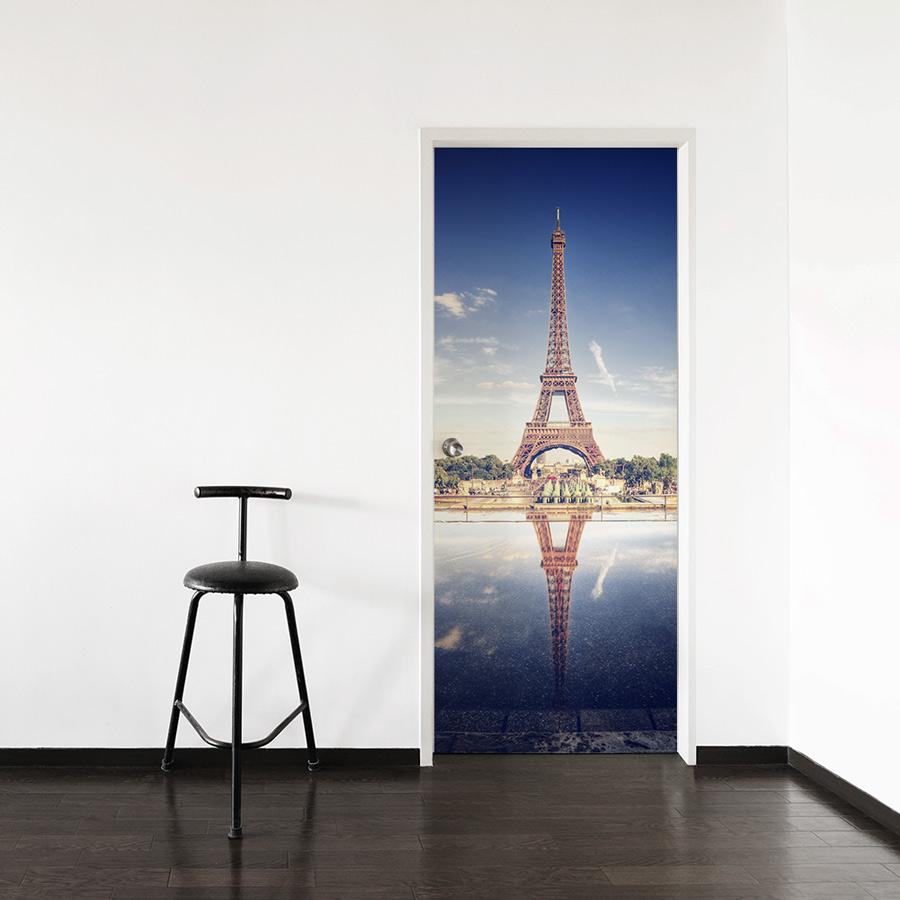 Eiffel tower door mural for Eiffel tower mural