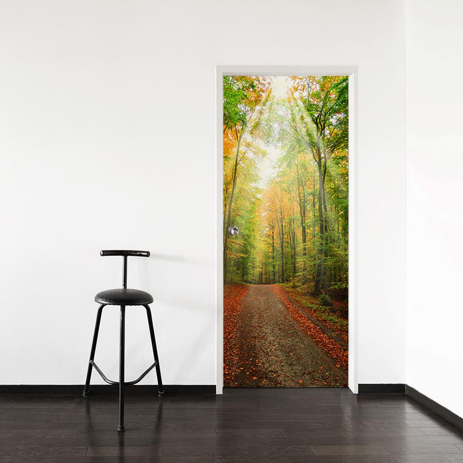 Forest path door mural for Door wall mural