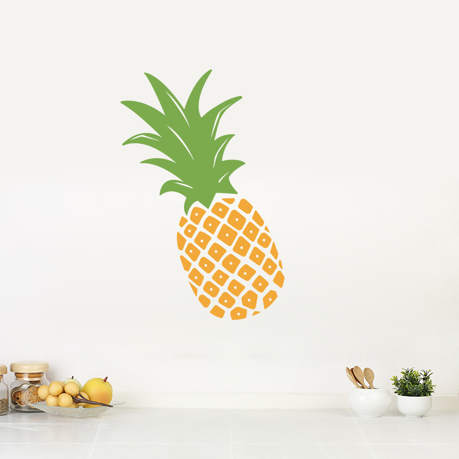 pineapple wall decal. Black Bedroom Furniture Sets. Home Design Ideas