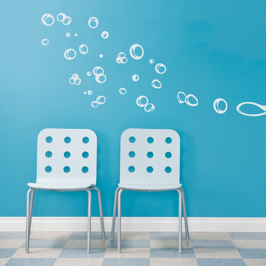 Floating Bubbles Wall Decal