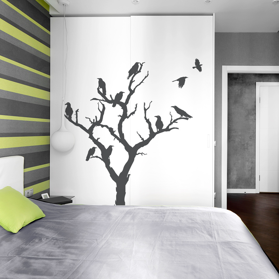 Design Tree Wall Decals crow tree wall decal