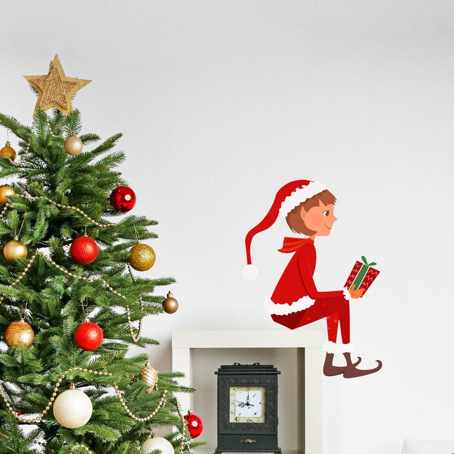 elf on the shelf printed wall decal christmas elf printed wall decal