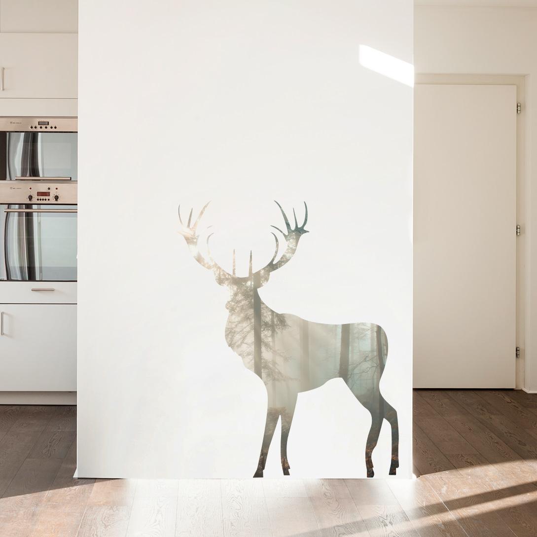 Forest Buck Deer Printed Wall