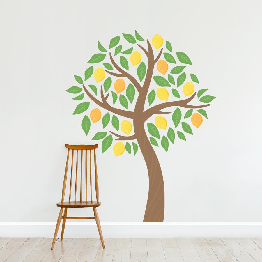 Lemontree wall decal