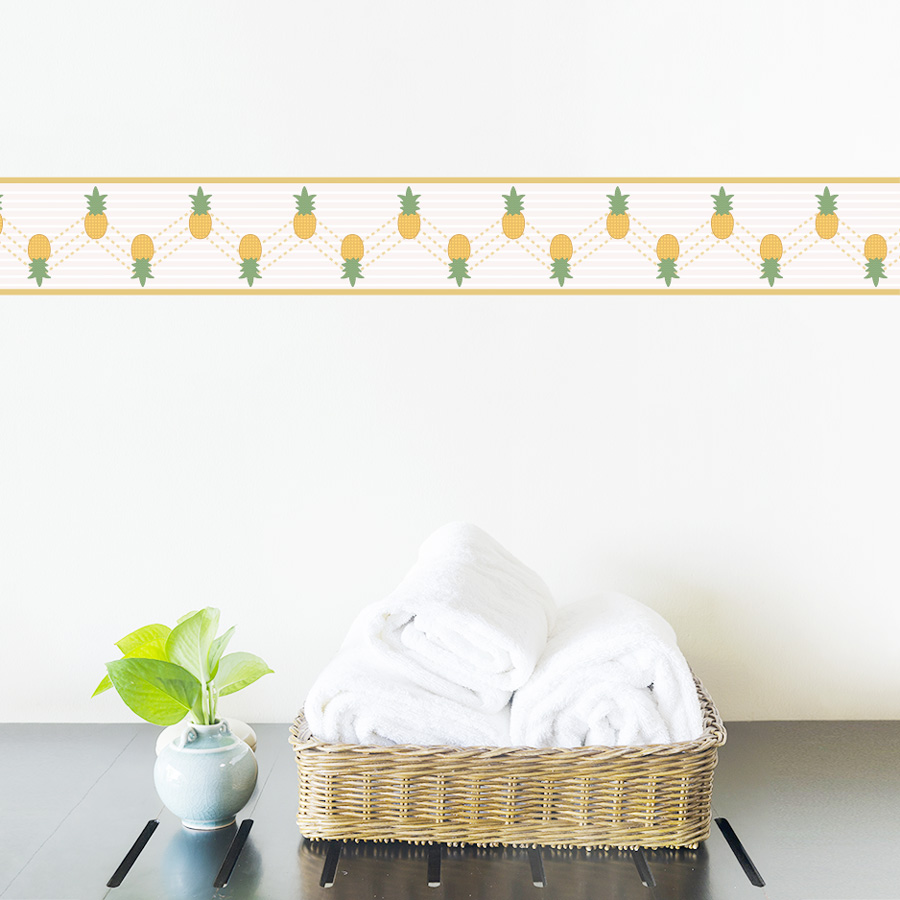 Kitchen Wall Border Decals: Pineapple Removable Border