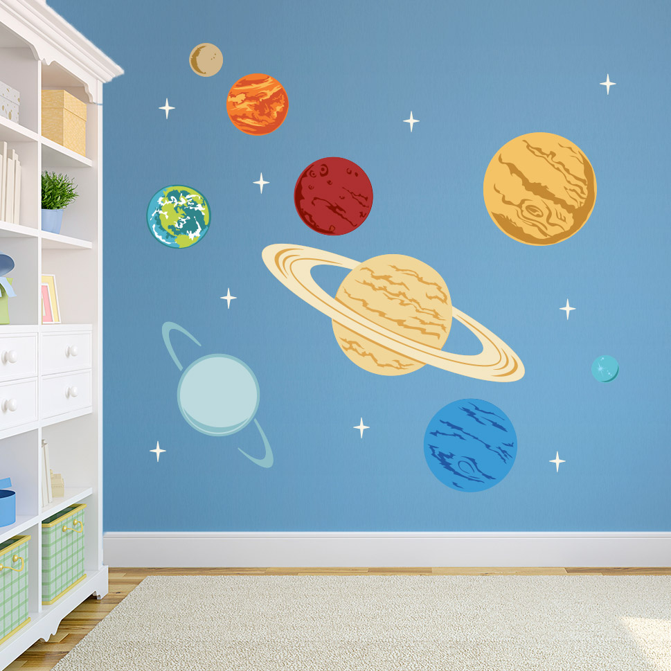 Amazing ... Planets Printed Wall Decal ...