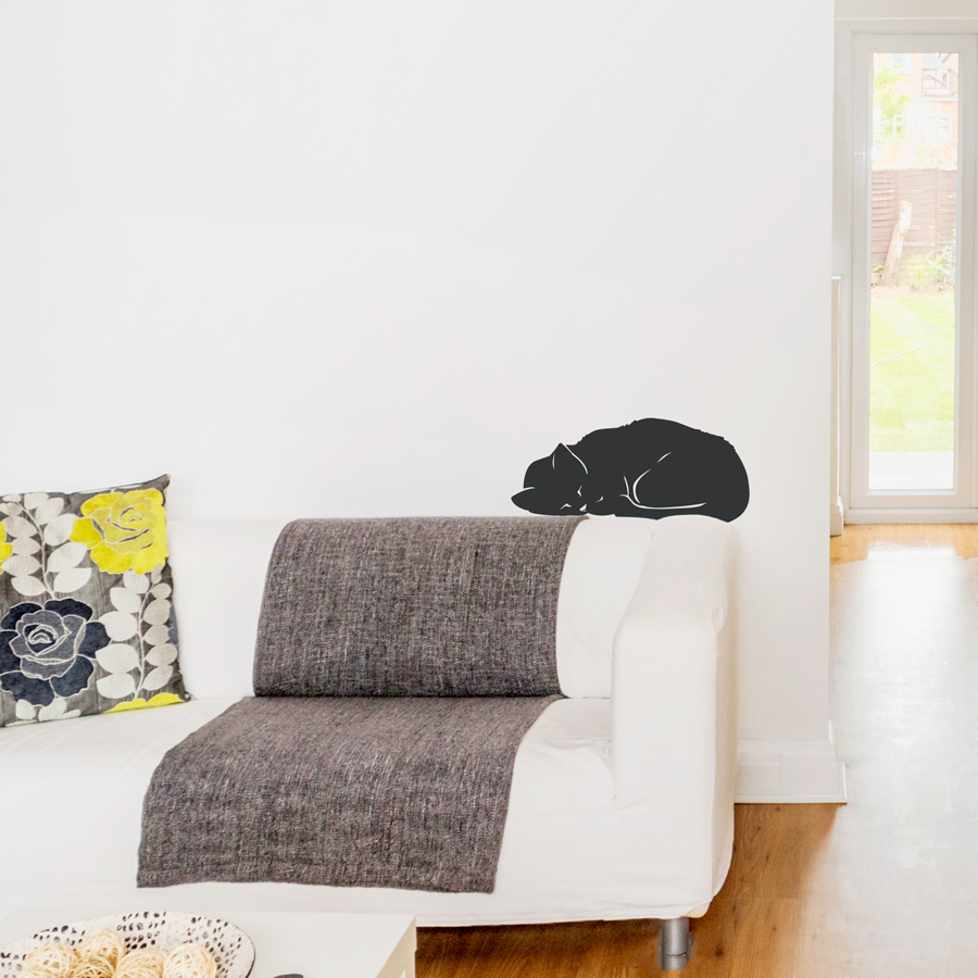 Sleeping cat wall decal amipublicfo Gallery